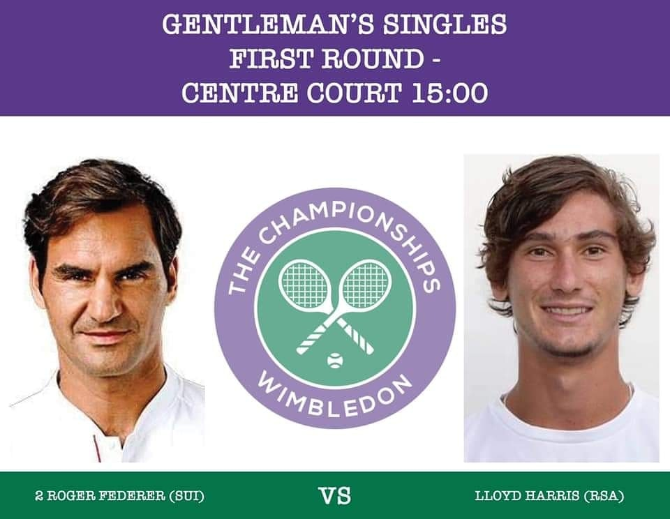 Lloyd Harris vs Roger Federer - Wimbledon 2019